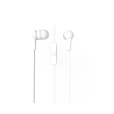iEssentials Earbud Splash w/Mic White