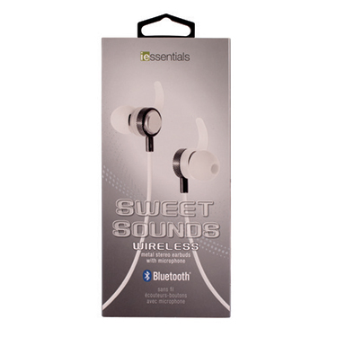 iEssentials Earbud Bluetooth Sweet Sounds w/Mic Silver