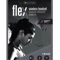 iEssentials Earbud Bluetooth Flex w/Neck Band & Mic Gray