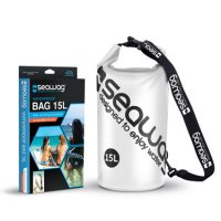 Seawag Universal Waterproof Dry Bag 15L w/Strap White/Blk