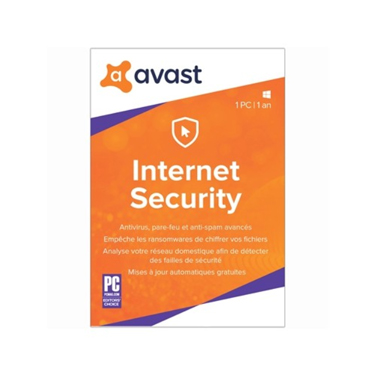 Avast 2019 Internet Security 1-User 1Yr PKC BIL