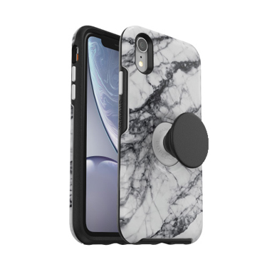 OtterBox iPhone XR & Pop Symmetry White Marble