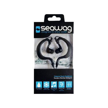 Seawag Earphones Waterproof w/Mic Black IPX8