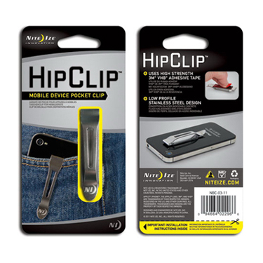 Nite Ize Hip Clip Smartphone Clip Stainless Steel