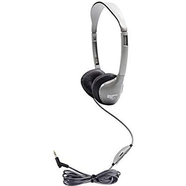 HamiltonBuhl Headphone SchoolMate w/vol Dura-Cord Sil