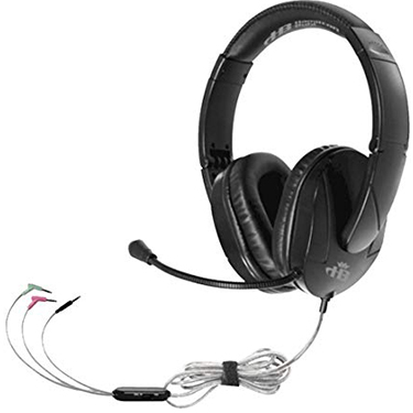 HamiltonBuhl Headset Over Ear Trios w/Gooseneck Mic Black