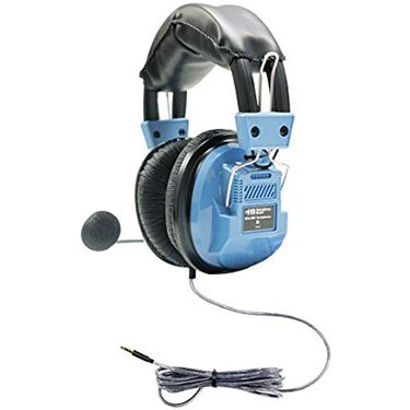 HamiltonBuhl Headset Over Ear Deluxe w/Gneck Mic TRRS Plug