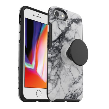 OtterBox iPhone 7/8 & Pop Symmetry White Marble