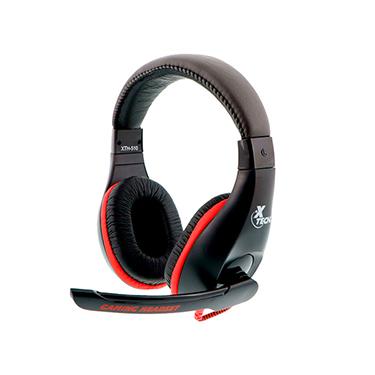 Xtech Headset Ominous On Ear 2x3.5mm w/Mic Black Gaming