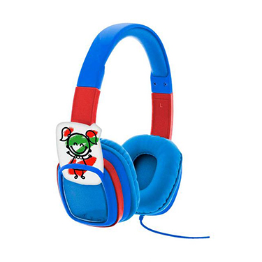 Xtech Headset Smart Art On Ear Vol Limited w/Crayons Blue