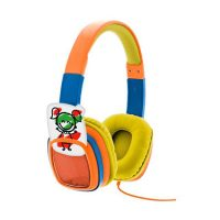 Xtech Headset Smart Art On Ear Vol Limited w/Crayons Orange