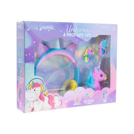 Gabba Goods Kid's SafeSounds Unicorn 4pc Tech Gift Set