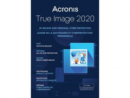 Acronis True Image 2020 Backup & Recover 1-User BIL