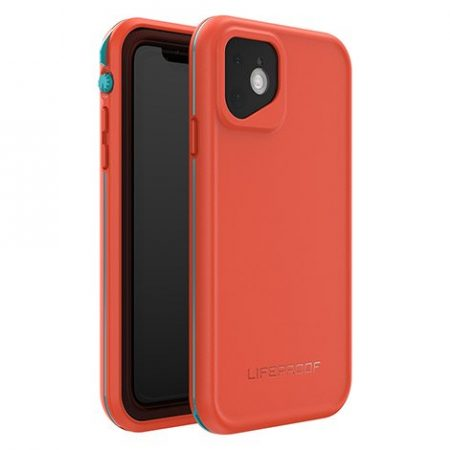 Lifeproof iPhone 11 Fre Case Waterpoof Aqua/Red Orange