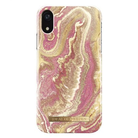 Ideal of Sweden iPhone XR Golden Blush Marble