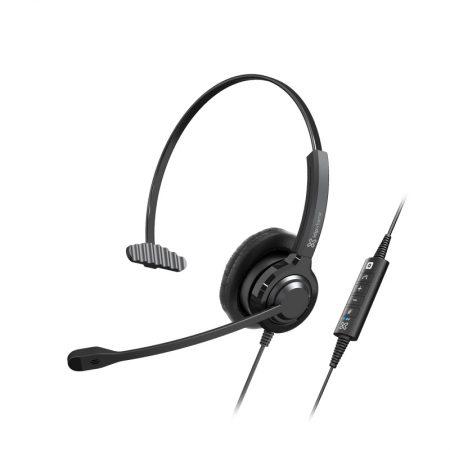 Klipxtreme Headset Voxpro Mono W/Vol Cont Boom Mic USB