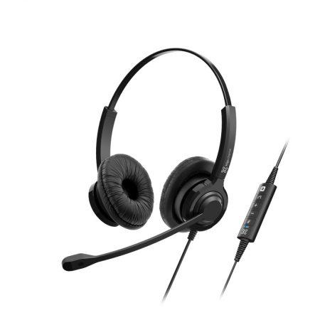Klipxtreme Headset VoxPro-S Stereo w/Vol Boom Mic USB
