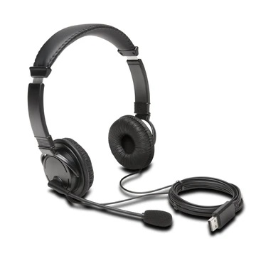 Kensington Headset Stereo w/Boom Mic USB