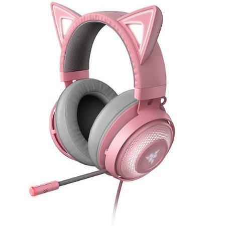 Razer Headset Kraken Kitty Quartz Chroma w/Boom Mic USB