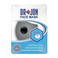 Dr Jon Face Mask 5 Layer Grey Washable Optional Filter