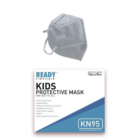Ready First Aid Face Mask KN95 Kids 4 Layer White (Box 10)