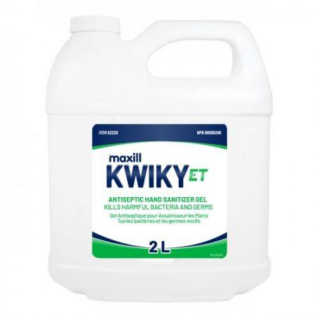 Kwiky ET Hand Sanitizer Gel 2L Refill Jug Antiseptic