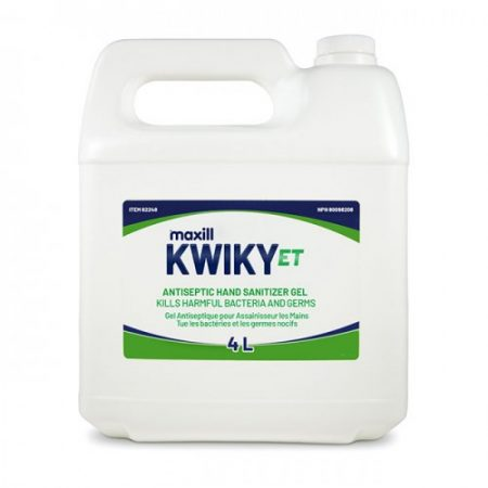 Kwiky ET Hand Sanitizer Gel 4L Refill Jug Antiseptic